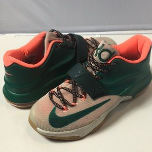 Nike KD VII Kevin Durant Size 9 Easy Money Green